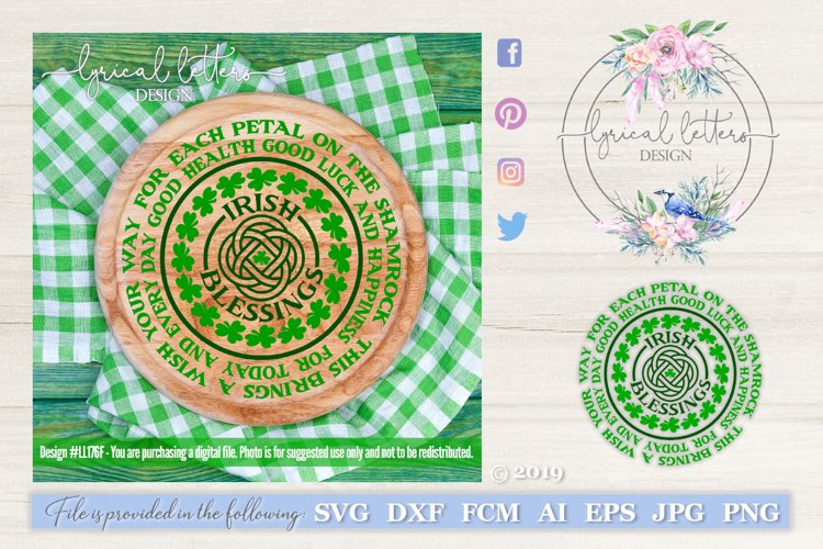 Irish Blessing St. Patricks Day SVG DXF Cut File LL176F