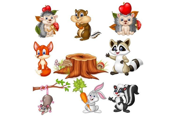 Cartoon Wild Animals Vector Set example image 1