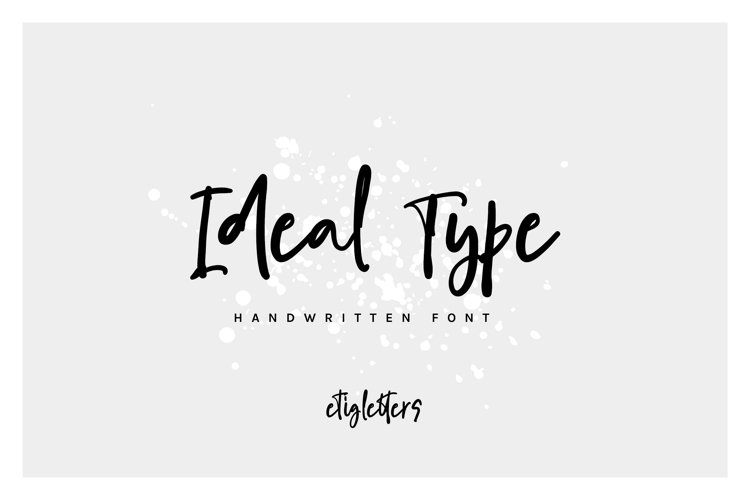 Ideal Type Casual Font example image 1