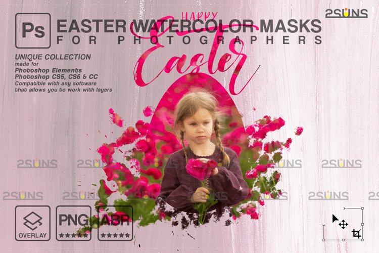 Easter Watercolor overlay & Photoshop overlay example image 1