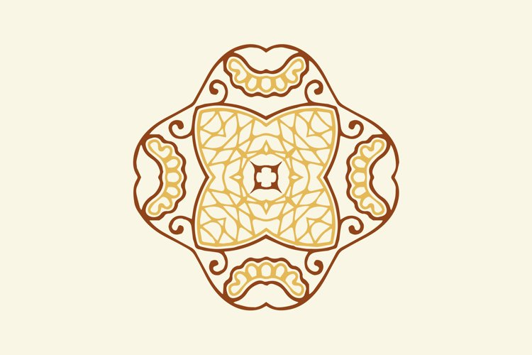 Ornament Abstract Brown Color Design example image 1