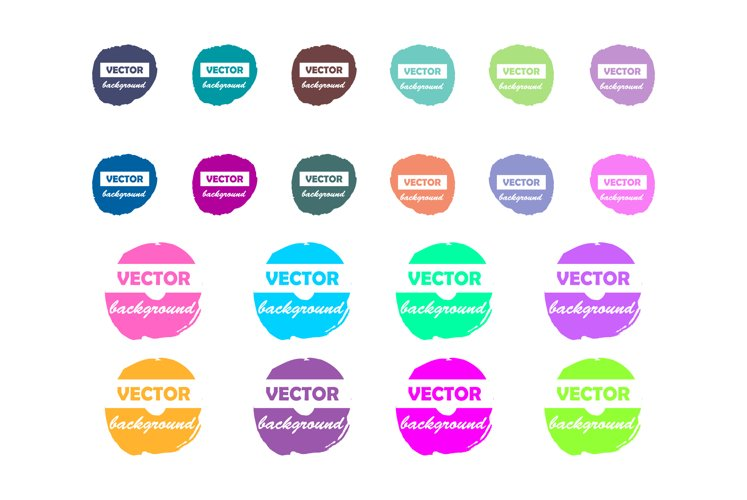 Colorful pastel neon round paint stains for your design