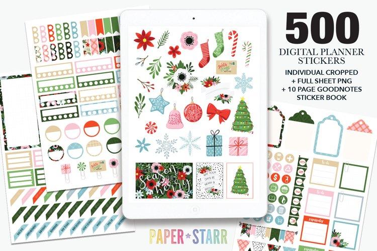 500 Christmas Digital Planner Stickers