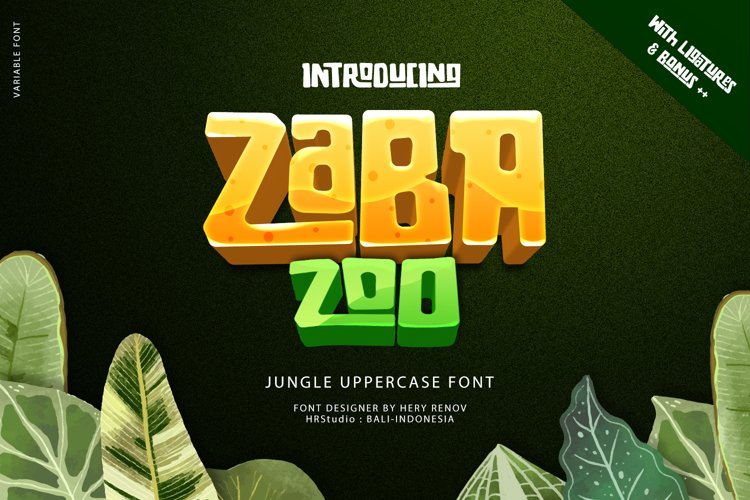 Zaba Zoo - Jungle Font with Text effect example image 1