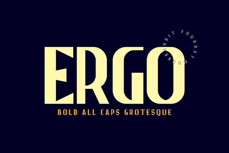 Ergo - Bold All caps grotesque example image 1