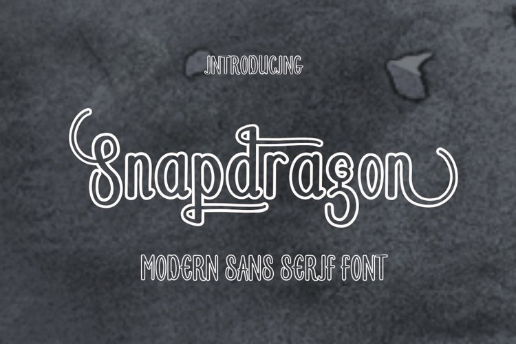 Snapdragon - Free Font of The Week Font