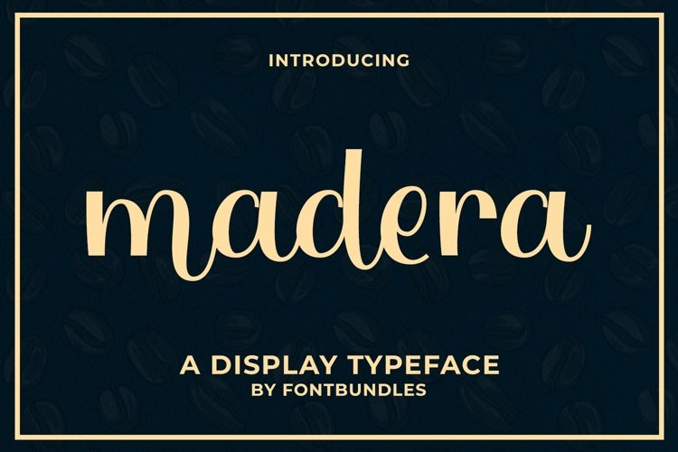 Web Font Madera example image 1
