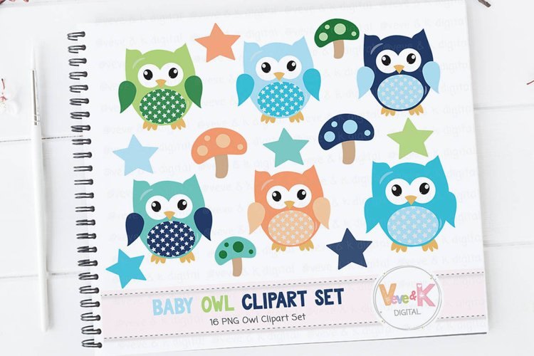 Owl Clipart, Cute Owls Clipart, Digital Owl Clipart, Baby Shower Clipart, Baby boy Shower Clipart, Owl Digital Images, Boy Owls Clipart