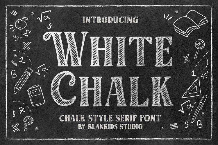 White Chalk Serif Font