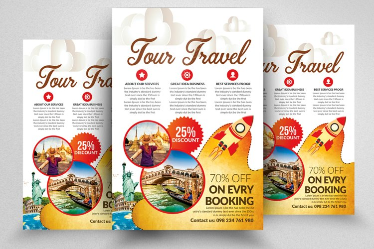 Holiday Tour/Travel Flyer Templates example image 1