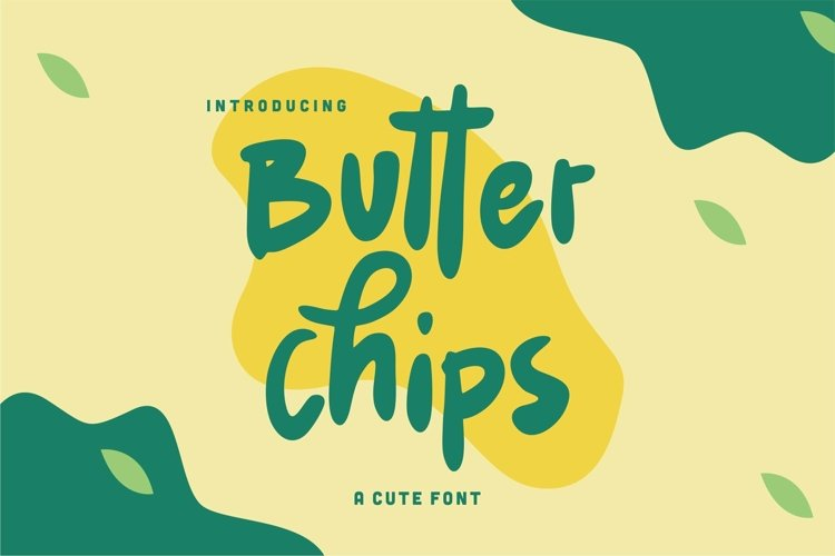 Web Font Butter Chips - A Cute Font example image 1