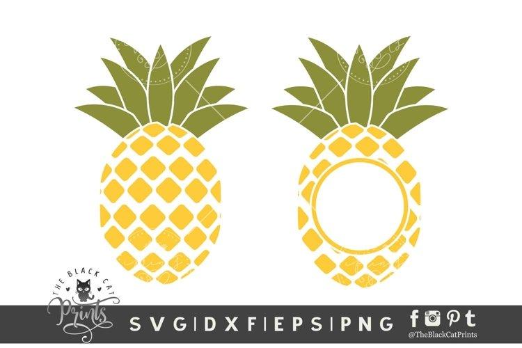 Pineapple Monogram SVG | Pineapple SVG | Summer SVG Cut File