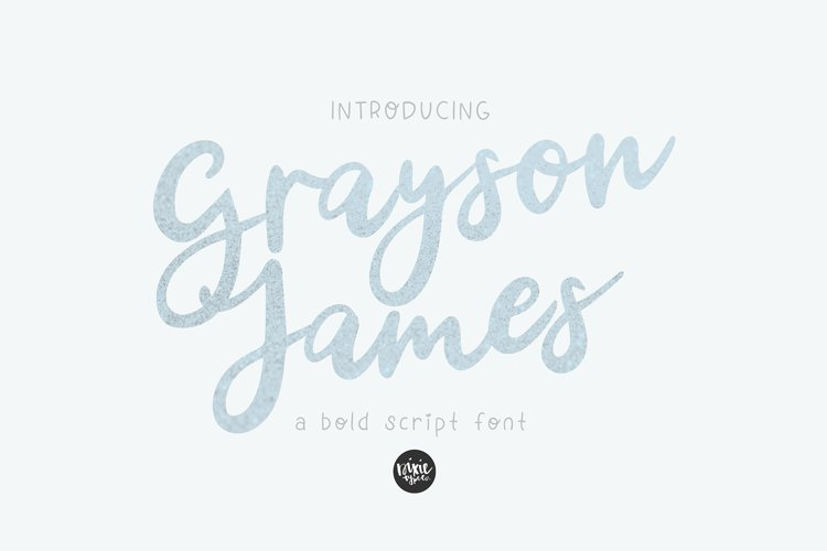 GRAYSON JAMES Bold Script .OTF Font example image 1