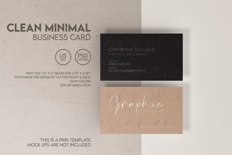 Clean Minimal Business Card example image 1