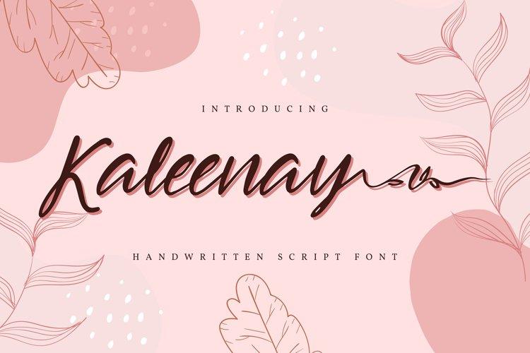 Kaleenay | Handwritten Script Font example image 1
