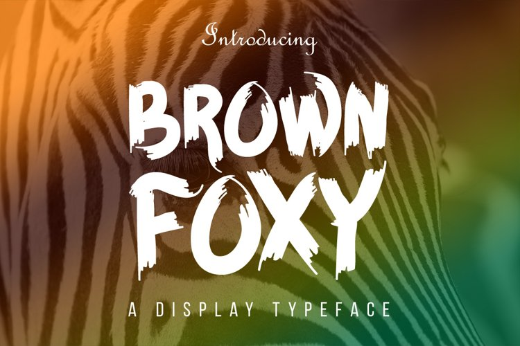 BROWN FOXY Typeface - Free Font of The Week Font