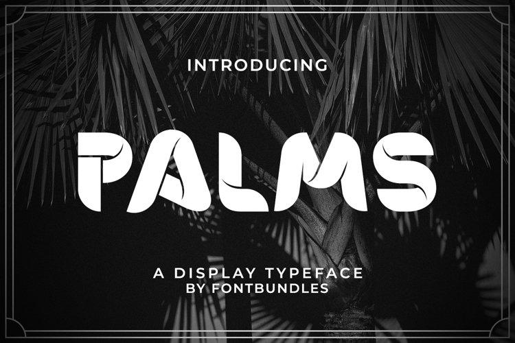 Web Font Palms example image 1
