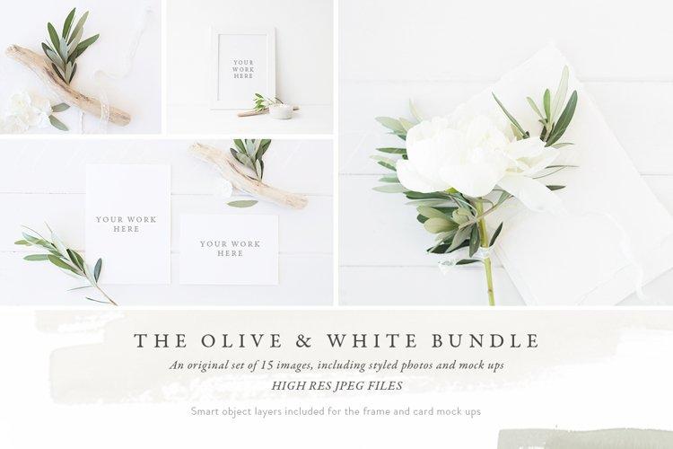 The Olive & White Mockup BUNDLE example image 1