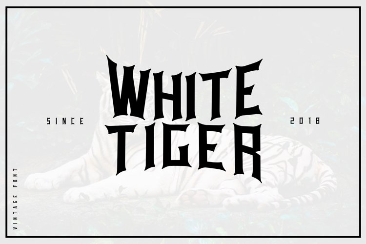 White tiger example image 1
