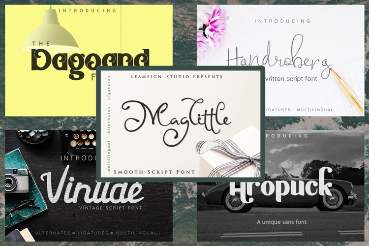 5 in 1 - font bundle vol 02 example image 1