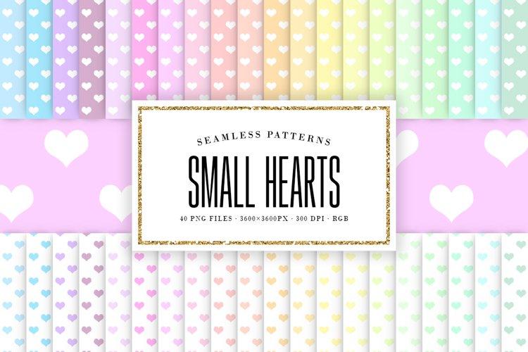 Pastel Small Hearts Seamless Patterns