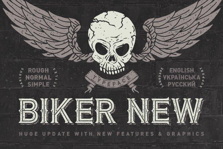 Biker Remastered font + graphics