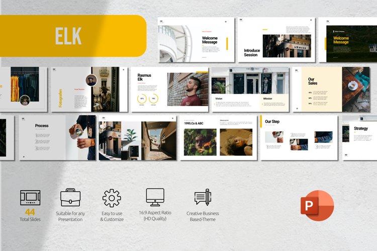Elk Clean Presentation Powerpoint example image 1