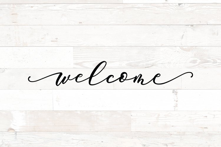 Welcome - Farmhouse Home sign svg