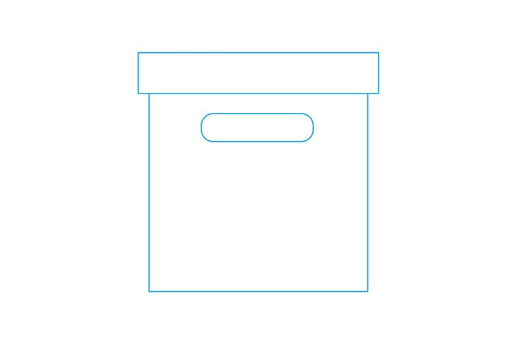 outlined box icon. Vector Line Icon. Vector illustration example image 1