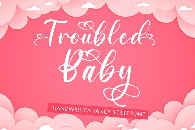 Troubled Baby - Fancy Script Font example image 1