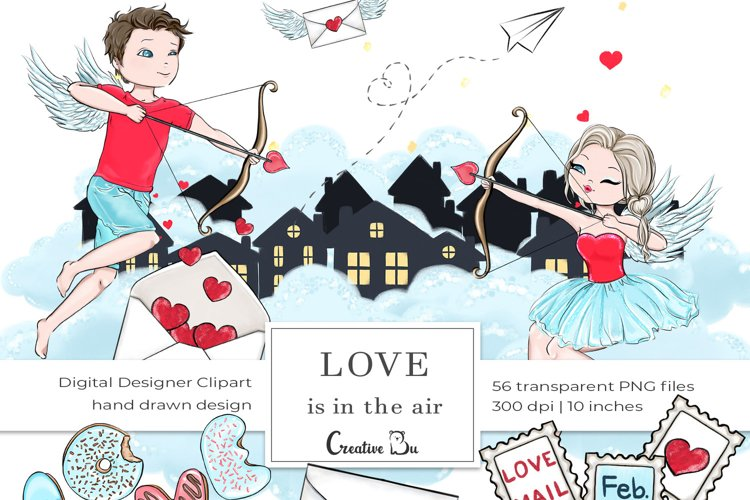 Love is in the air - Clipart example image 1