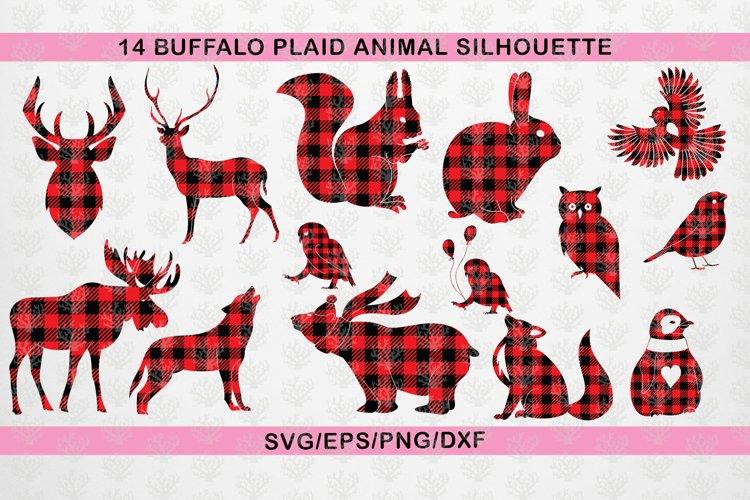 Buffalo Plaid SVG Bundle - Christmas Animal And Birds Svg
