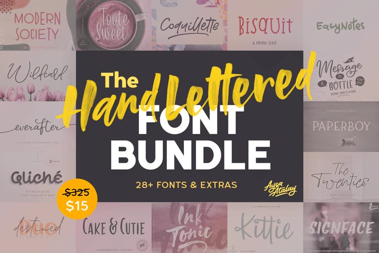The Hand Lettered Font Bundle