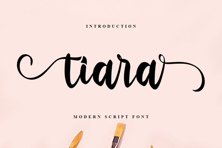Tiara | Modern Script Font example image 1