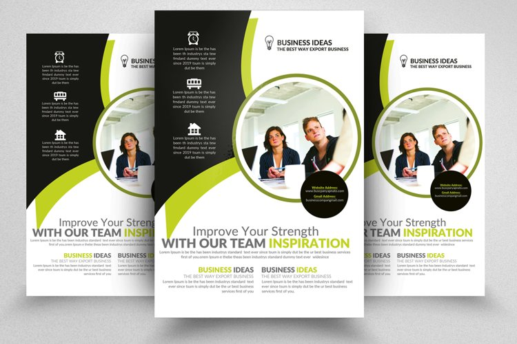 Information Technology Consultants Flyer Templates example image 1