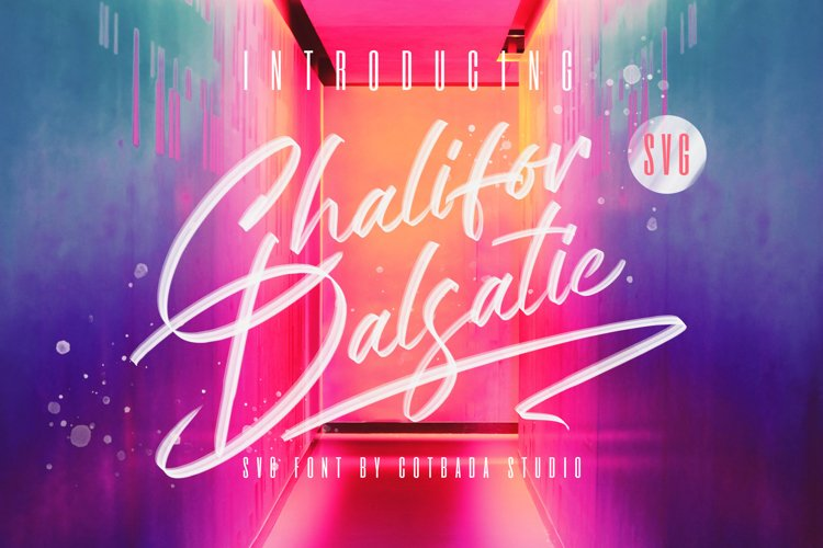 Chalifor Dalsatic SVG FONT example image 1