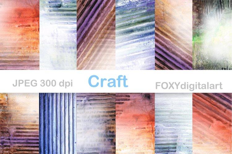 Digital Paper Watercolor Background Grunge Scrapbook Journal example image 1