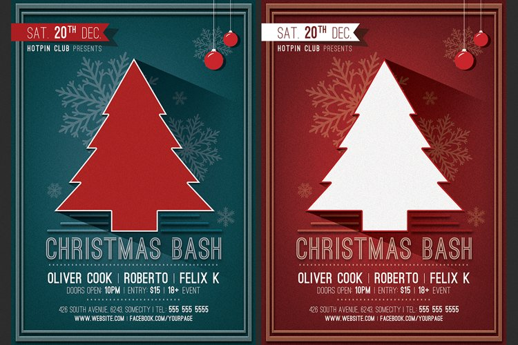 Christmas Party Flyer Invitation example image 1