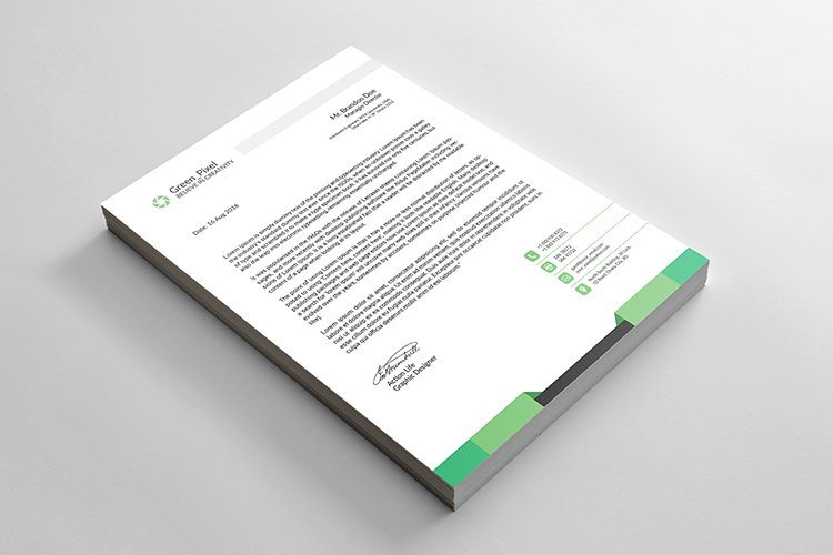 Minimalist professional business letterhead design example image 1