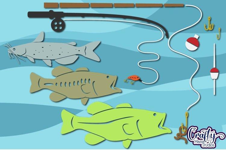 Fishing Svg, Fish, Fathers Day Svg, Bass Fishing, Clipart