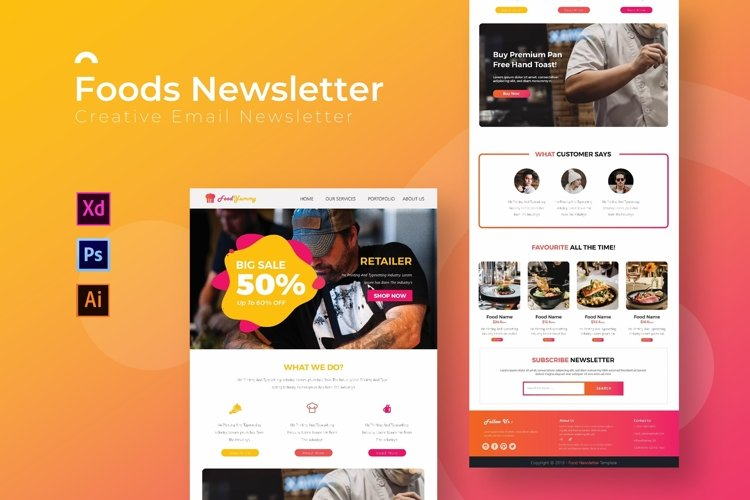 Foods | Email Newsletter Template example image 1