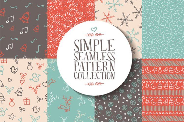 Christmas seamless pattern collection example image 1