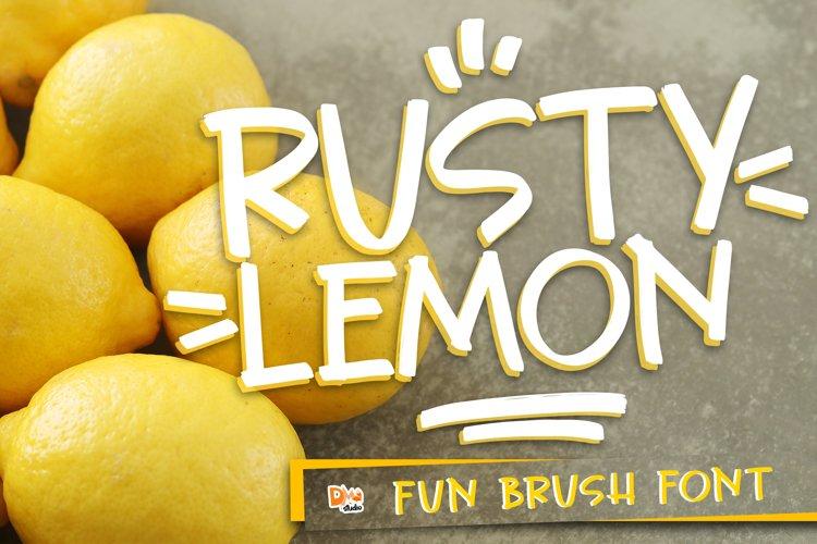 Rusty Lemon - Fun Brush Font example image 1