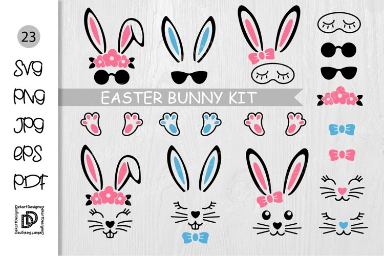 Bunny SVG, Easter Bunny Head, Easter Rabbit, Animal Head SVG