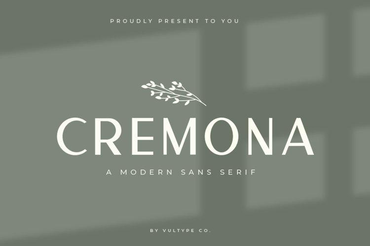 Cremona - Minimal Sans Serif example image 1