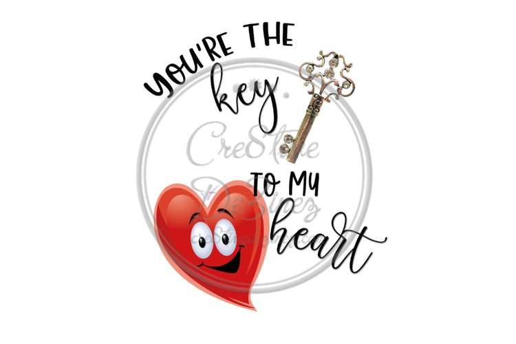 You're the Key to My Heart Love Kitchen Towel Funny Real example image 1