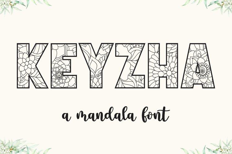 KEYZHA Mandala Font