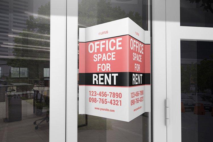 Window V-Signs Board Mockup example image 1