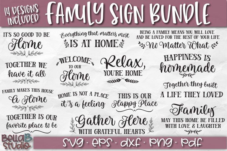 Wood Sign SVG Bundle, Family Bundle, Home SVG File example image 1