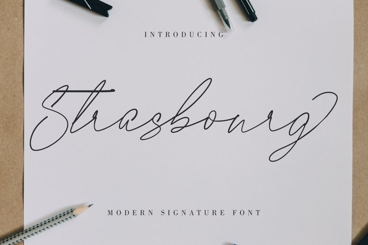 Strasbourg | Modern Signature Font example image 1